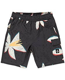 Toddler & Little Boys True Volley Printed Swim Trunks