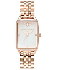 Women's Bee Hive Rose Gold-Tone Stainless Steel Bracelet Watch 20mm