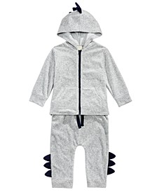 Baby Boys 2-Pc. Dinosaur Jacket & Jogger Pants Set, Created For Macy's