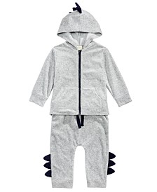 First Impressions Baby Boys 2-Pc. Dinosaur Jacket & Jogger Pants Set, Created For Macy's