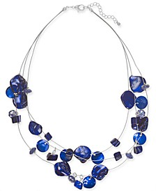 "Shell Multi-Row Illusion Statement Necklace, 18"" + 2"" extender, Created For Macy's"