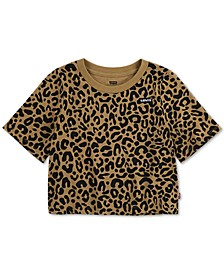Toddler Girls Cotton Animal-Print High-Rise T-Shirt