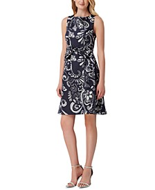 Sleeveless Paisley Fit & Flare Dress