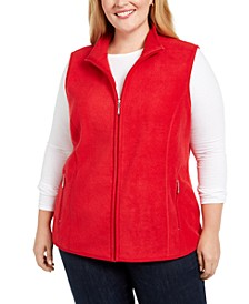 Plus Size Zip-Front Vest, Created For Macy's