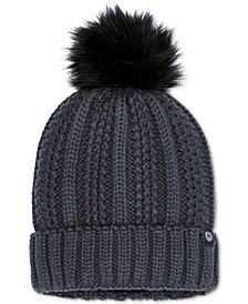Women's Bronx Faux-Fur Pom Pom Hat