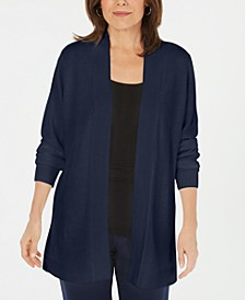 Plus Size Long-Sleeve Open-Front Cardigan, Created for Macy's