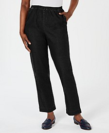 Petite Pull-On Straight-Leg Jeans Short, Created for Macy's