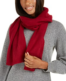 Cashmere Rib Muffler Scarf, Created For Macy's