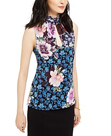 Silk Printed Sleeveless Top