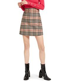 Marella Paolo Plaid Skirt
