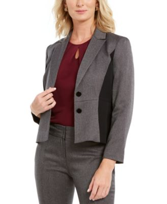 Two-Button Paneled Blazer