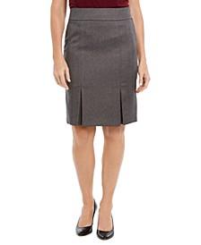 Pleated Pencil Skirt