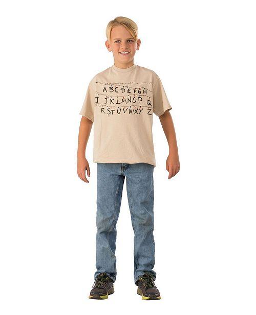 BuySeasons Toddler Boys and Girls Stranger Things Alphabet Shirt