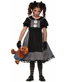 Big Girl's Child Dark Rag Doll Costume
