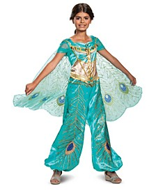 Little and Big Girl's Aladdin - Jasmine Teal Deluxe Child Costume