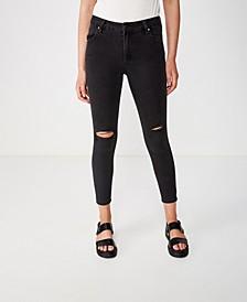 Mid Rise Grazer Skinny Jean