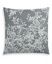 Woven Floral Cotton 300-Thread Count European Sham, Created for Macy's