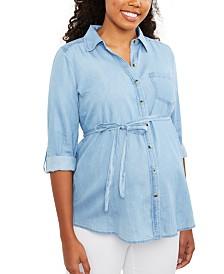 Motherhood Maternity Chambray Shirt
