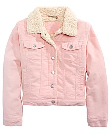 JouJou Big Girls Sherpa Fleece & Corduroy Jacket