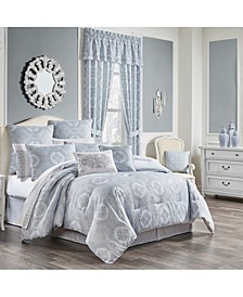 Claremont Blue Full 4pc. Comforter Set