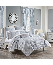Claremont Blue Twin 2pc. Quilt Set