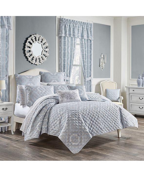 Royal Court Claremont Blue Twin 2pc. Quilt Set