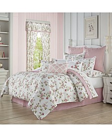 Rosemary Rose Queen 4pc. Comforter Set