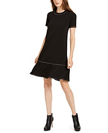 Studded Ruffled Dress, Regular & Petite Sizes