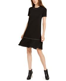 Michael Michael Kors Studded Ruffled Dress, Regular & Petite Sizes
