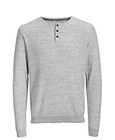 Men's Autumn Long Sleeved Grandad Sweater With Contrast Details
