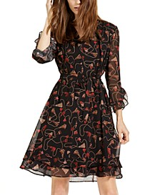 Orda Printed Fit & Flare Dress