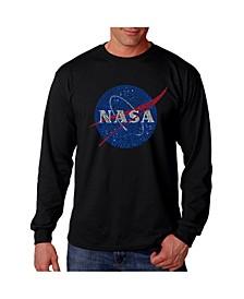 Men's Word Art Long Sleeve T-Shirt- Nasa Meatball Logo