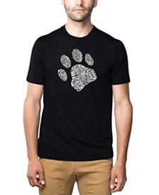 LA Pop Art Men's Word Art T-Shirt - Dog Paw