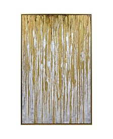 Spectre Gold Framed Canvas