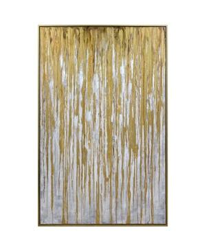 Harp & Finial Spectre Gold Framed Canvas