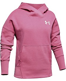 Under Armour Big Girls Moisture-Wicking Fleece Hoodie