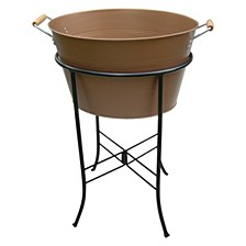 Masonware Antique Copper Finish Party Tub with Stand