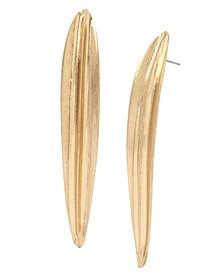 Sculptural Leaf Stick Earrings