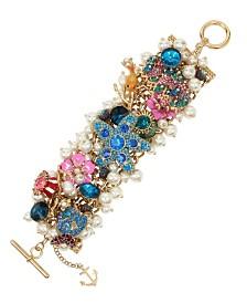 Betsey Johnson Mixed Sea Life Charm Toggle Bracelet
