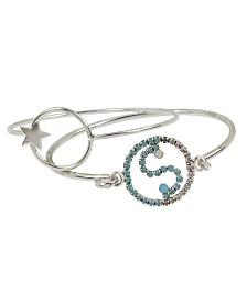 BCBGeneration Turquoise Stone Yin Yang Skinny Wire Bangle Bracelet Set
