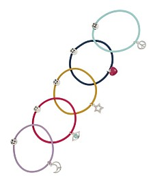 BCBGeneration Festival Star & Moon Charm Hair Tie Set