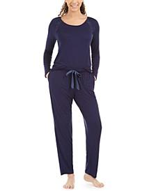 Bardot Embroidered Lace Pajamas Set
