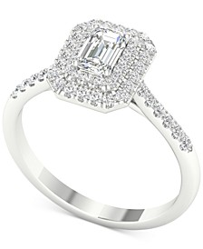 Diamond Triple-Halo Engagement Ring (3/4 ct. t.w.) in 14k White Gold