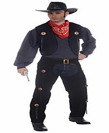 Buy Seasons Men's Vest and Chaps Set Costume