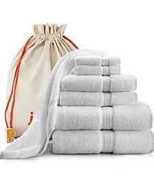 Luxury Hotel Quality 7 Piece Towel Set And Bath Mat, 100%Long Staple Turkish Cotton