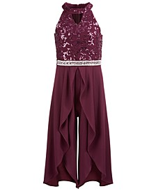 Big Girls Embellished Embroidered Jumpsuit