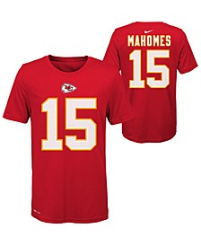 Big Boys Pat Mahomes Kansas City Chiefs Pride Name and Number T-Shirt