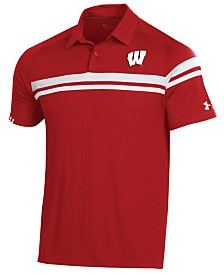 Under Armour Men's Wisconsin Badgers Tour Drive Polo