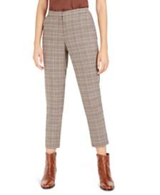 Bar III Plaid Straight-Leg Pants, Created For Macy's