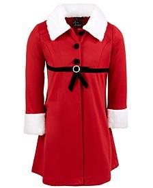 Little Girls 2-Pc. Mrs. Claus Coat Dress Set
